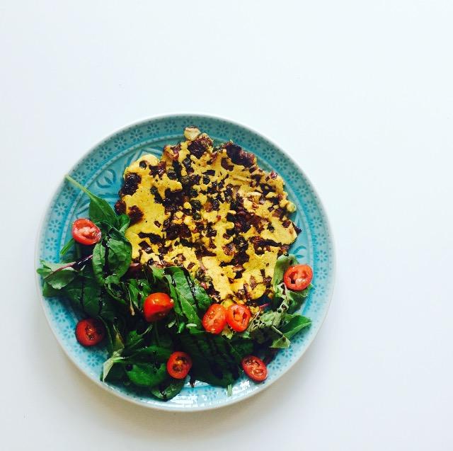 Rezept für Kichererbsen-Omelette – vegan